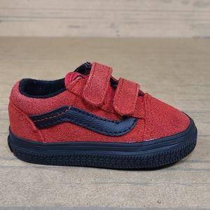 Vans Old Skool Red Suede Kids Sneakers